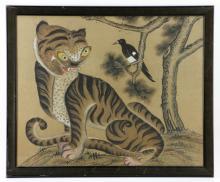 19th C. Korean Silk Painting