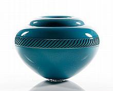 Tagliapietra, Blue Incalmo Glass Vase