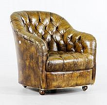 Bennett for Brickell Leather Club Chair