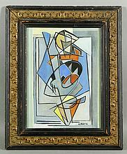 Attrb. Severini, Abstract in Colors, Gouache