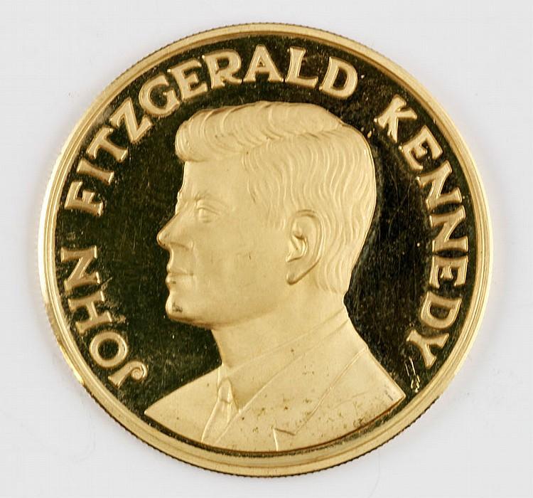 Rare 18K Gold Commemorative Coin of JFK