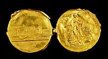 2 Antique 22K Gold Medallion