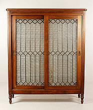 20th C. Glass Door Bookcase