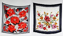 Hermes Paris and Nicole de Beauvoir Silk Scarves