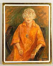 Blatas, Portrait of Lady, O/C