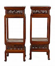 Pair of Huanghuali Stands