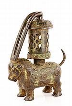 19th C. Chinese Bronze Lantern
