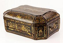 19th C. Chinese Lacquer Sewing Box