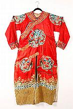 19th/20th C. Chinese Embroidered Robe