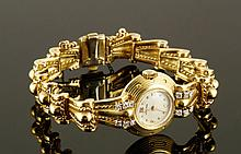 Ladies 14K Gold and Diamond Watch