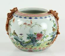Chinese Famille Rose Porcelain Brush Washer