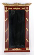 19th/20th C. Paint and Gilt Decorated Mirror
