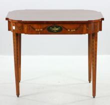 George III Style Satinwood Center Table