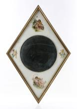 French Reverse Painted Bull's Eye Mirror