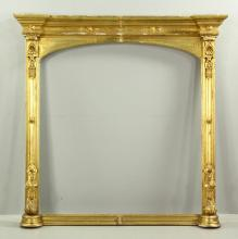 Large Arts and Crafts Gilt Wood Mirror Frame
