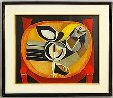 "Garcia-Llort, ""L'oiseau"", Lithograph"