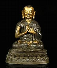 Chinese 18th C. Gilt Bronze Buddha