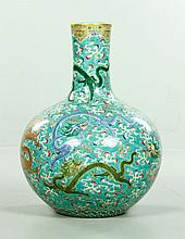 Chinese Large Famille Rose Bottle Vase