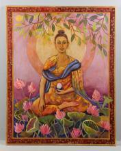 Buddha, Oil on Canvas