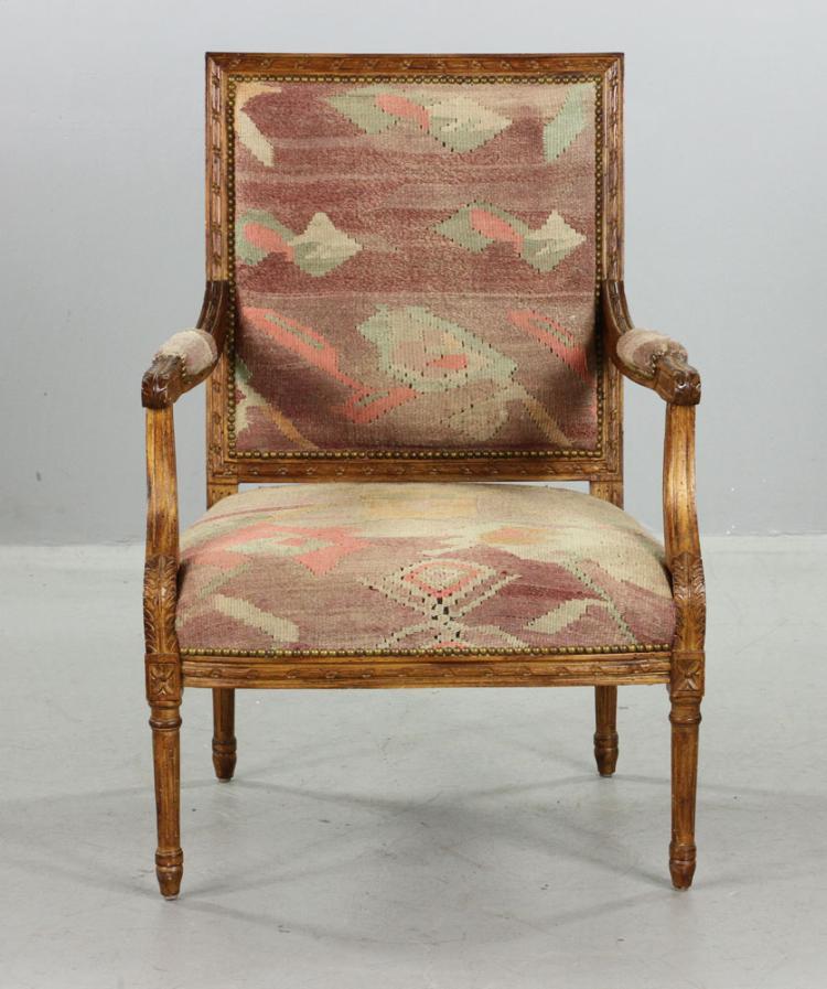 continental carved armchair On kaminski furniture