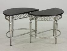 Pair of Designer Italian Iron Tables