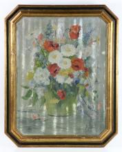 Wells, Floral Still Life, Oil on Board