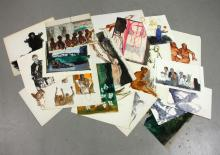 Jeswald, Group of Twenty Paintings and Drawings