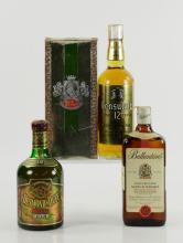 Four Bottles of Blended Scotch Whiskey