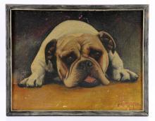 Broyman, Bulldog, Oil on Canvas