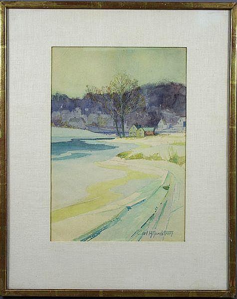 Carl Nordstrom, Winter Landscape, w/c
