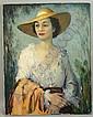 Signed Ulysses A. Ricci, Portrait Of Lady, o/c