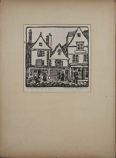 William Hazelton, Quimper, Block Print, 1925