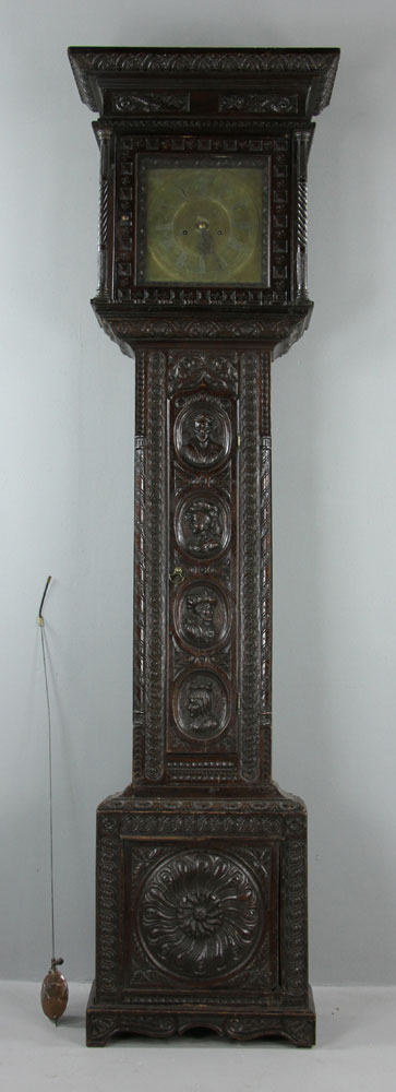 Antique carved oak grandfather clock - Antique clock designs for your home ...
