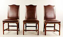 6 Leather Upholstered Chairs