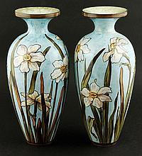 Pair of Bennett Pottery Vases