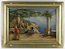 Briganti, View of Amalfi Coast, Oil