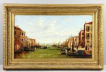 Attr. Martino, View of the Grand Canal Venice, Oil