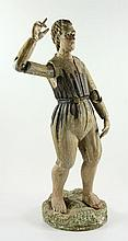 19th C. Italian Carved Articulated Figure