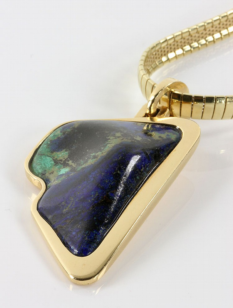 14k gold necklace with polished stone pendant for What is gold polished jewelry