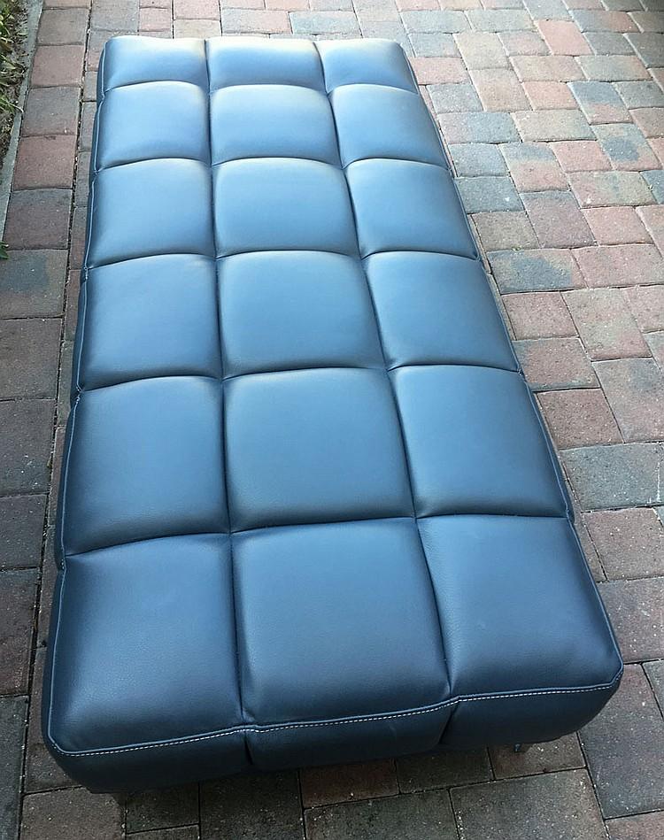 Modern Blue Upholstered Bench