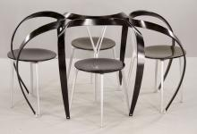 4 Cassina Bentwood and Metal Chairs