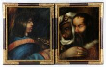 19th C. Italian School, Two Companion Portraits, Oil on Canvas