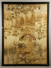 Large 19th C. Japanese Tapestry