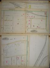 Two Lithograph Maps of Brookline