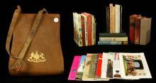 Lot of Military Books, Ephemera, and Map Case