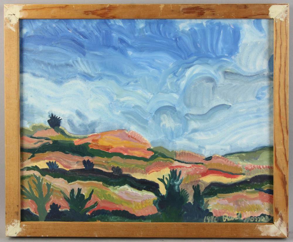 Canvas Santa Fe >> Rand Jones Oil On Canvas Santa Fe Landscape