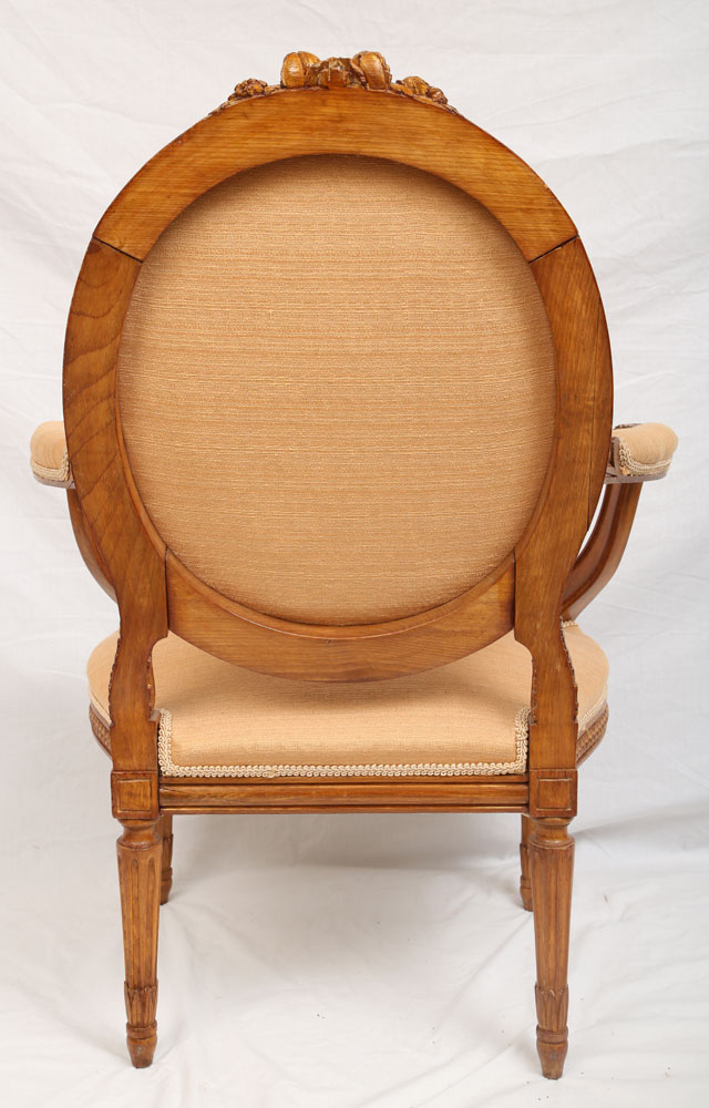 Pr Louis Xvi Hand Carved Chairs With Horse Hair Seats