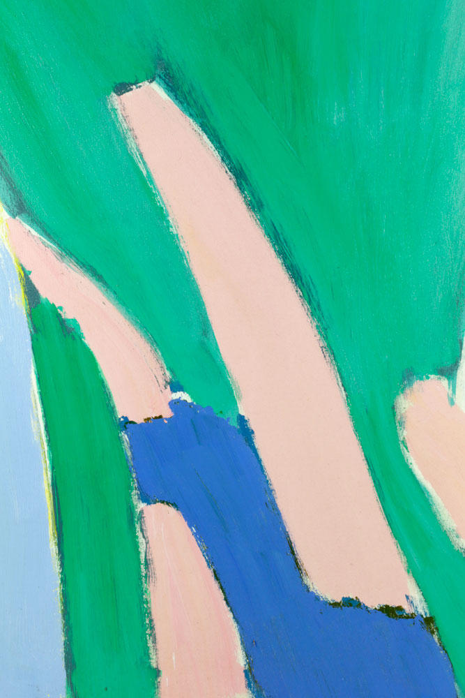 J Swan Abstract Acrylic On Canvas