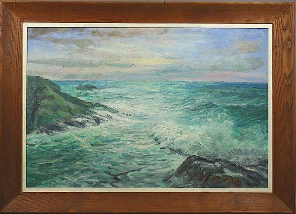Richard G.Packer (American, 1916-1995), Seascape,