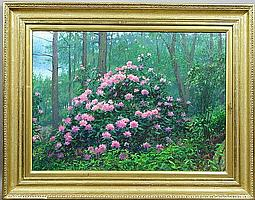 Signed Peter Tysver, Rhododendrons, o/c